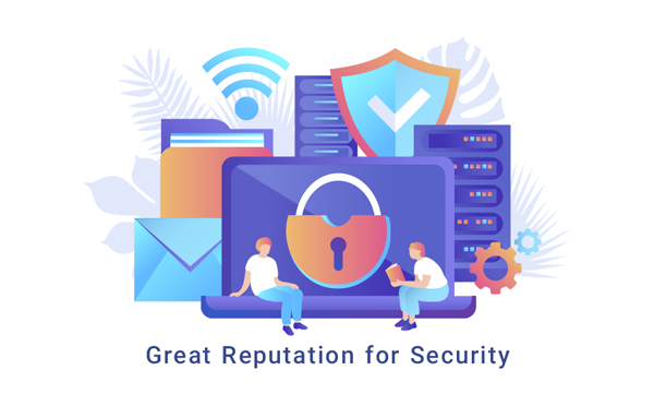 great reputation for security