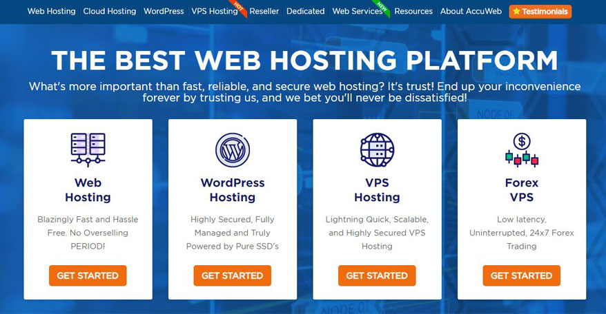 accu web hosting site