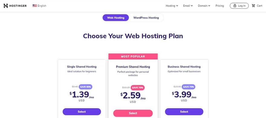hostinger web hosting