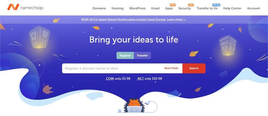 namecheap site