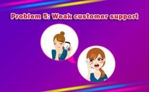 Weak Customer Support