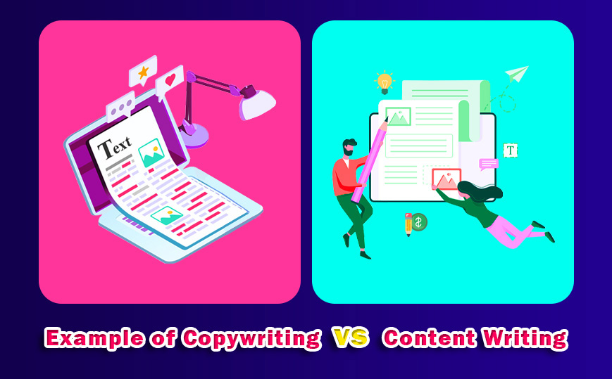 Example of Copywriting vs Content Writing
