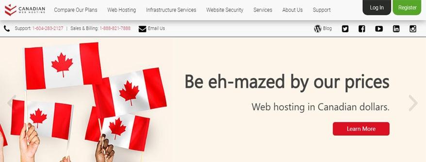canadian web hosting site