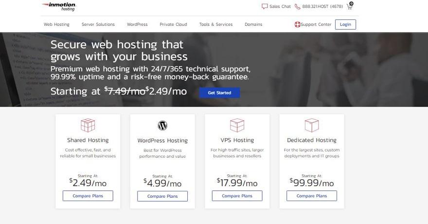 inmotion hosting site