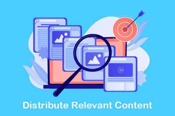 distribute relevant content