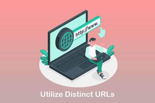 utilize distinct urls