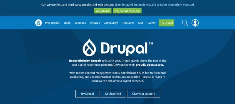 drupal cms site